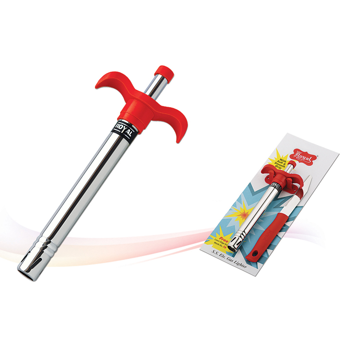S.S.Gas Lighter with Soft Grip Handle