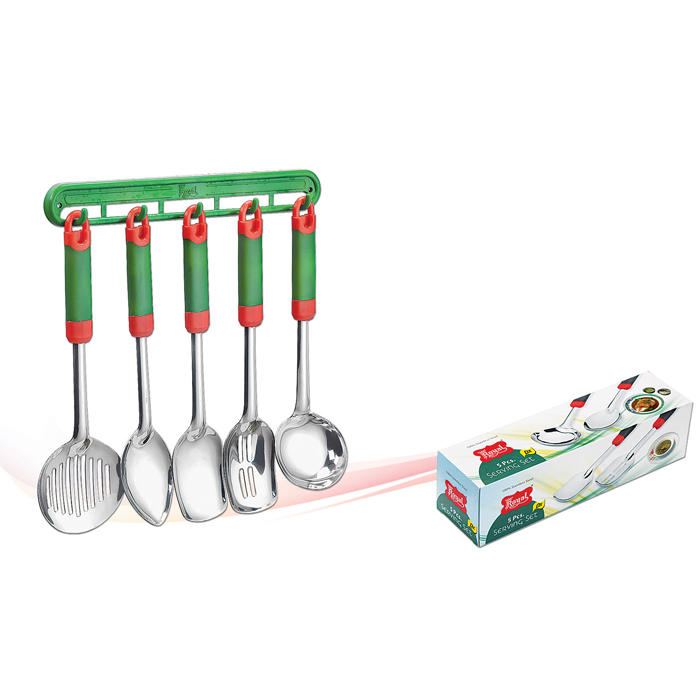Serving Tools Set with Soft Grip Handle